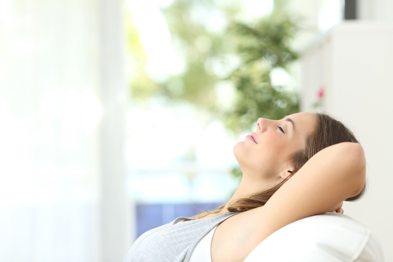 woman enjoying indoor air quality